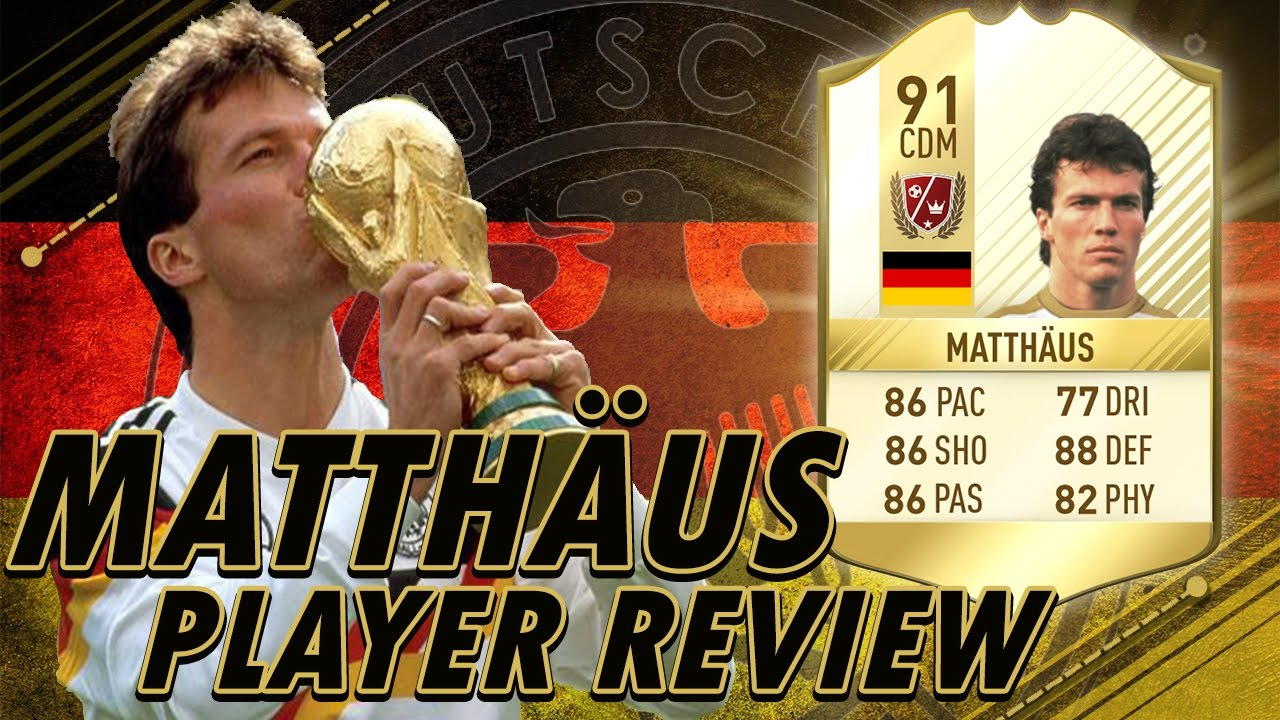 FIFA 17 UT Lothar Matthaus 91 Player Review w Gameplay & In
