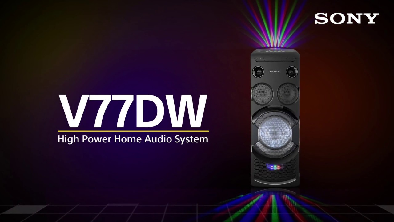 Wireless bluetooth hi fi system for home mhc v7d sony uk - Sony Mhc V77dw High Power Home Audio System