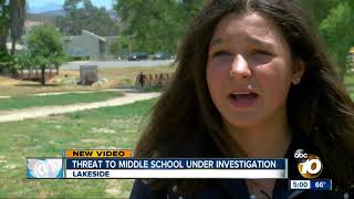 Threat to middle school in Lakeside investigated