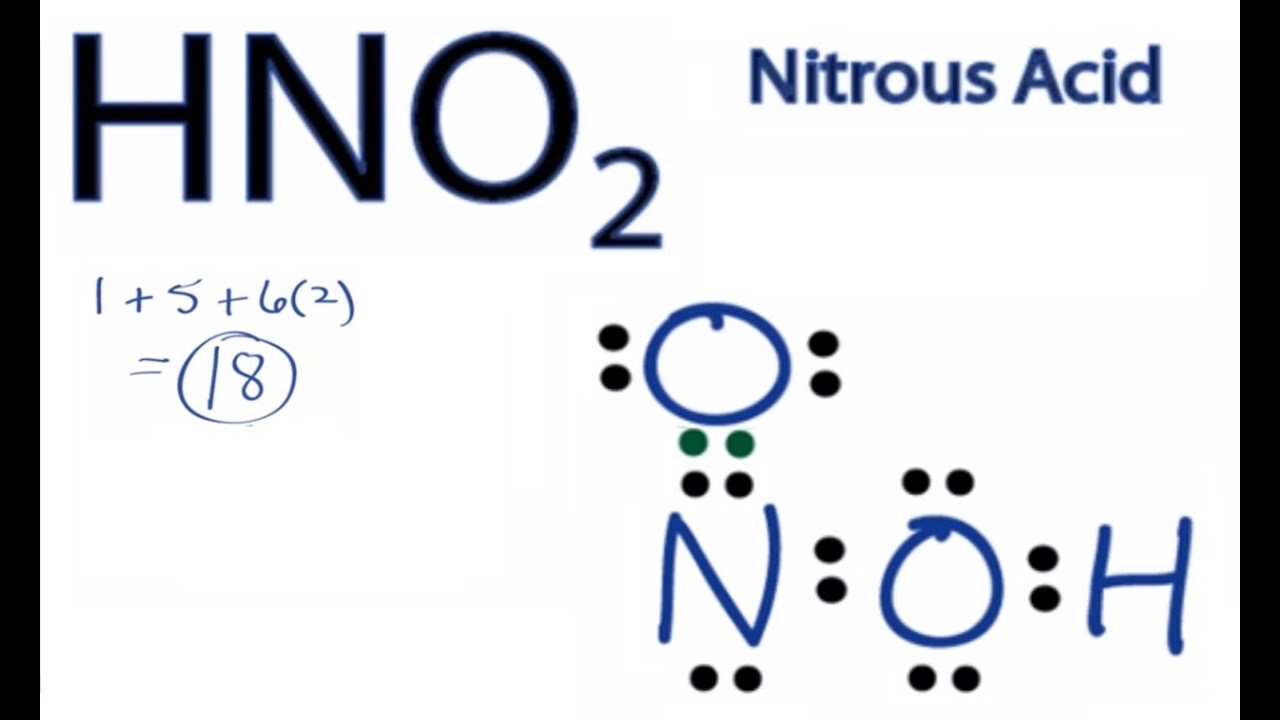Hno2 lewis structure how to draw the lewis structure for nitrous youtube premium ccuart Gallery