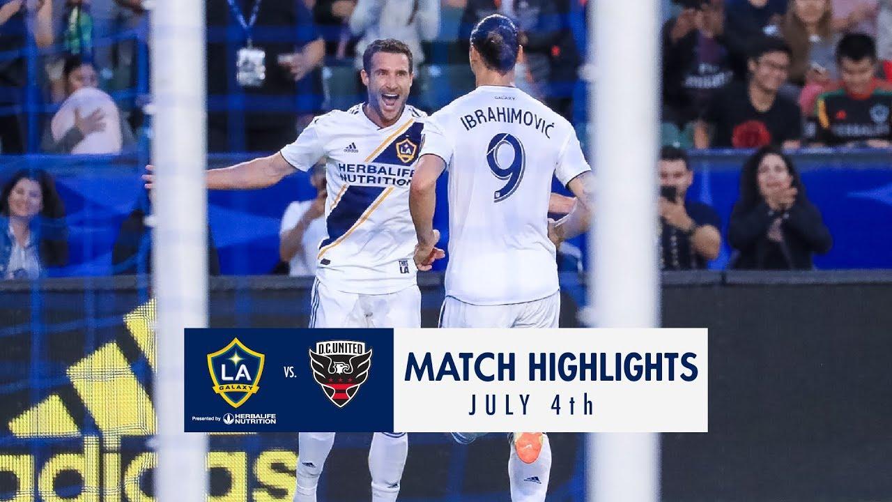 Highlights La Galaxy Vs D C United July 4 2018 Youtube