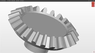 Creo Tutorial - How to Draw an Involute Bevel Gear Part 2