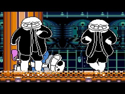 Kids play MUGEN - Team Double Funny Underpants Sans vs. MUGEN Characters