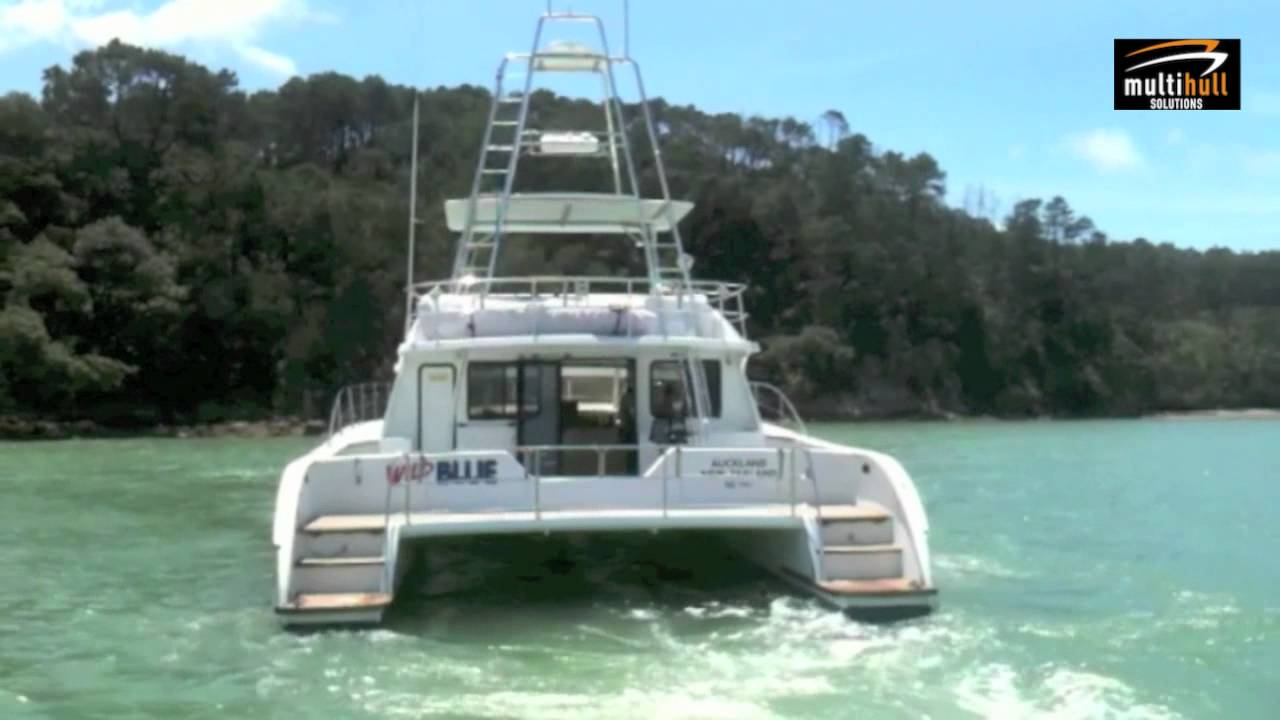 "Strong 60 - Offshore Power Catamaran - ""Wild Blue"" for Sale - YouTube"