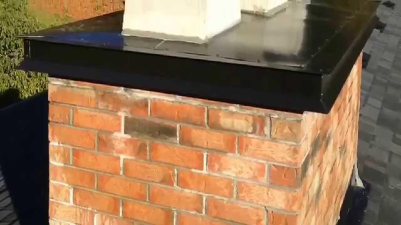 How To Finish A Chimney Top Drip Edge Flashing Flue Guru