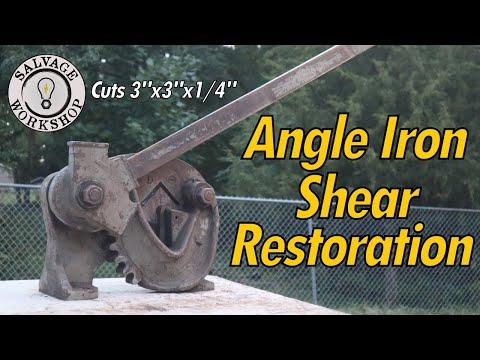 OLD Angle Iron / Metal Shear ~ RESTORATION ~ Cutting Angle Iron WITHOUT A SAW