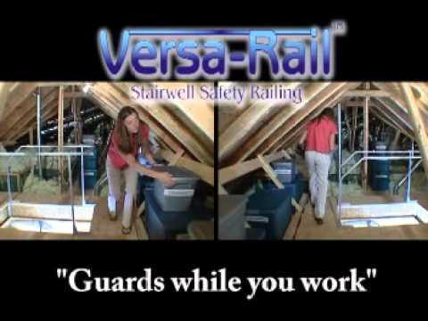 Versa Rail - Attic Ladder Safety Railing - YouTube