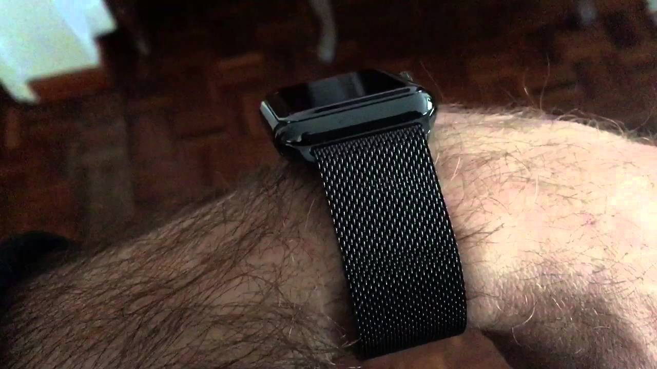 wholesale dealer 79aec da4c6 Apple Watch 38mm Black Stainless Steel Case with Milanese Loop