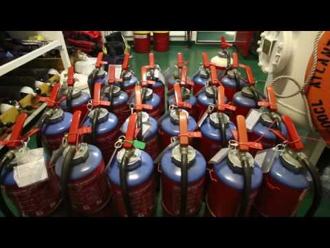 Annual Survey with Hundreds of Fire Extinguishers | Life at Sea