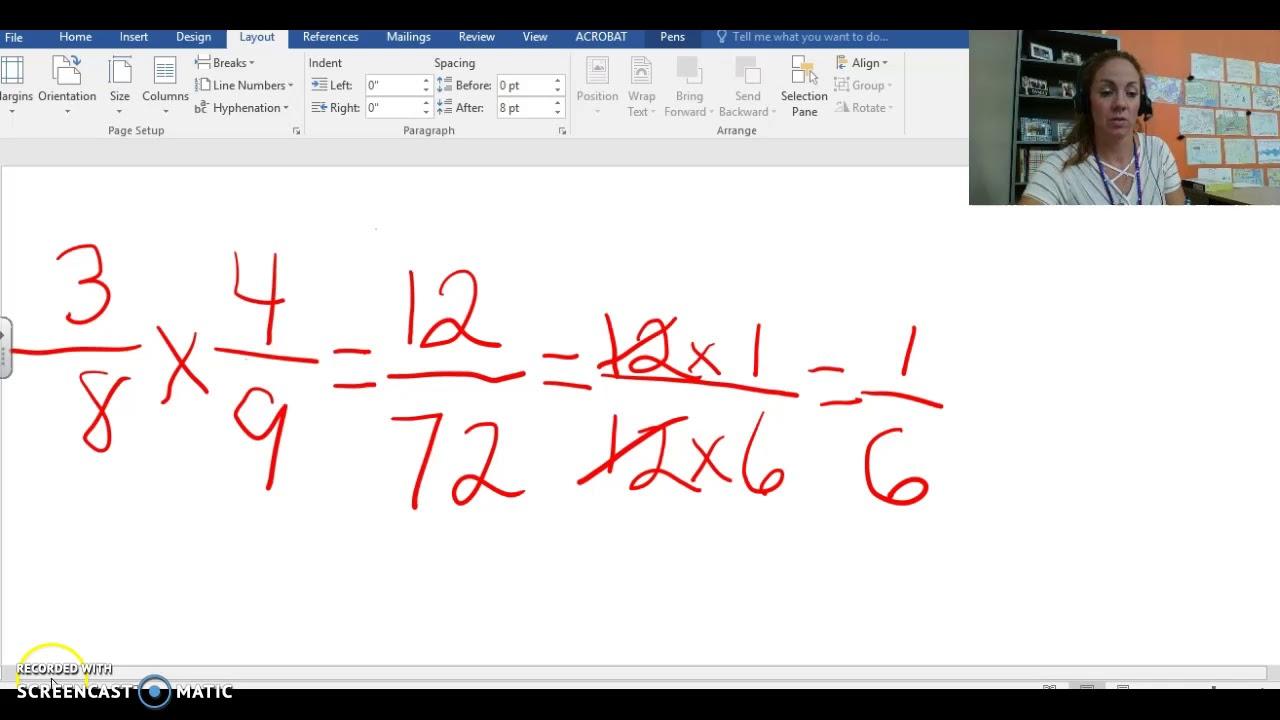 Multiplying Fractions 6th Grade - YouTube