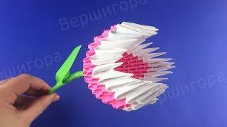 Оригами Цветок Тюльпан Супер Сиеста из бумаги ♡ Модульное оригами