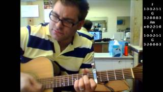 """How to play """"Send Me An Angel"""" by Real Life on acoustic guitar (Made Easy)"""