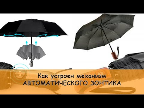 Как устроен зонт автомат (automatic umbrella mechanism)