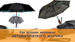 Как устроен зонт автомат (automatic umbrella mechanism)
