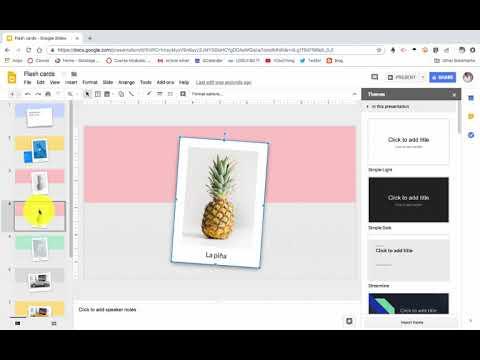 Creating Flashcards Using Google Slides Youtube