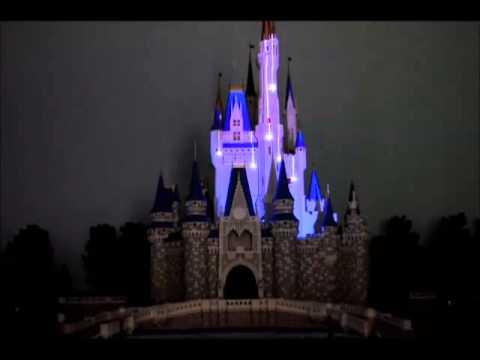 Amazing projection show on miniature Cinderella Castle model
