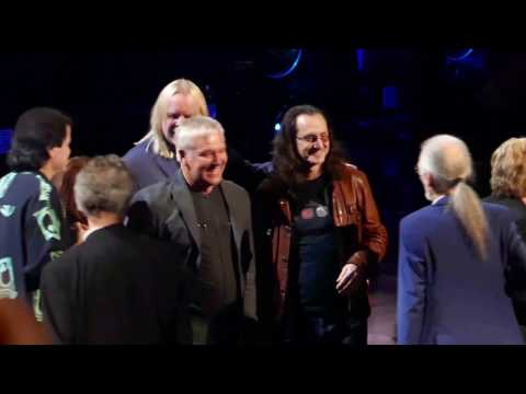 Yes Rock Hall of Fame Induction 2017 - Presentation by Lee/Lifeson and Yes acceptance speeches