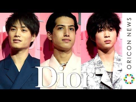 kemio、鈴木伸之、鈴木仁がオシャレ春コーデでDiorポップストアに来場 好きな女性のメイク明かす Dior新リップスティック発売記念『ディオール アディクト シティ』オープニング