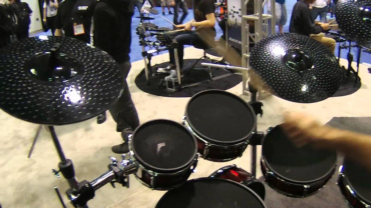 Namm 2016 Alesis Strike Pro Kit Electronic Drum Kit Youtube