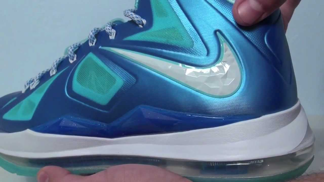 88b37746055b Nike LeBron 10 (X) Blue Diamond - Windchill - YouTube