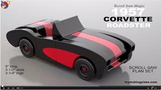 Wood Toy Plans - 1957 Corvette Roadster