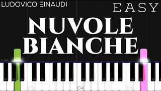 Ludovico Einaudi - Nuvole Bianche | EASY Piano Tutorial