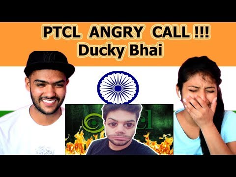 Indian reaction on PTCL ANGRY CALL | Ducky bhai | Swaggy d