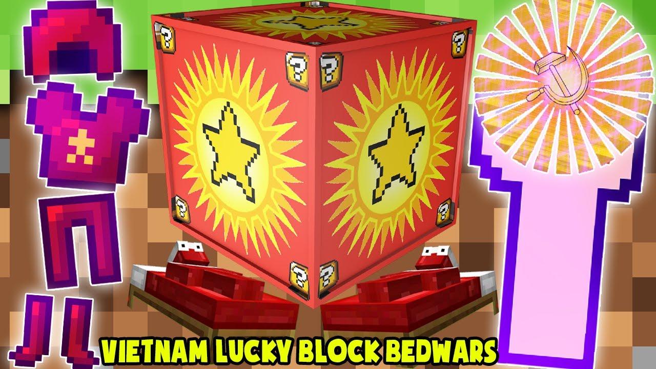 MINI GAME : VIET NAM LUCKY BLOCK BEDWARS ** THỬ THÁCH T GAMING SỞ HỮU ĐỒ VIỆT NAM VIP NHẤT MINECRAFT