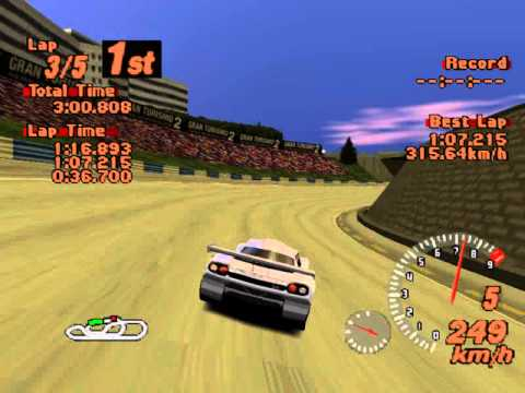 Gran Turismo 2 - Tommykaira ZZII (Red Rock Valley Speedway) - YouTube