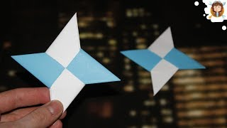 How to make a Paper Ninja Star - (Shuriken - Origami)