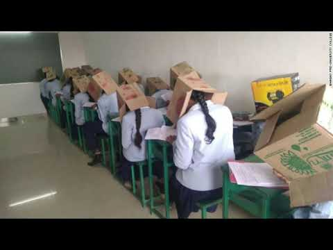 Mani Millss - College Force Students to Wear CardBoard Box on Head to Prevent Cheating!