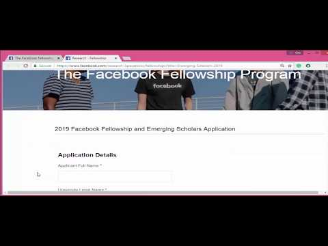 Facebook fellowship program emerging scholar scholarship 2019 fully funded fb research program.