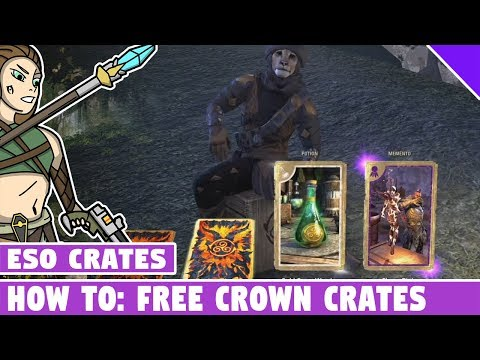 How to Get FREE CROWN CRATES in ESO! Elder Scrolls Online Flame Atronach Crown Crates