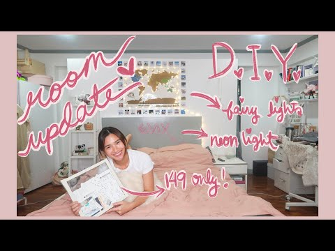 Room Makeover: DIY Room Decor, Neon Light & more! | Angel Yeo