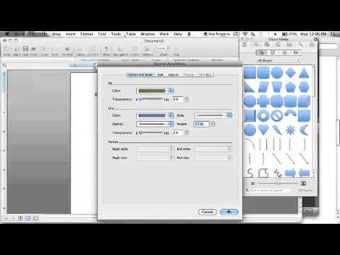 How to add a shape and format it in word 2008 for mac youtube how to add a shape and format it in word 2008 for mac ccuart Images