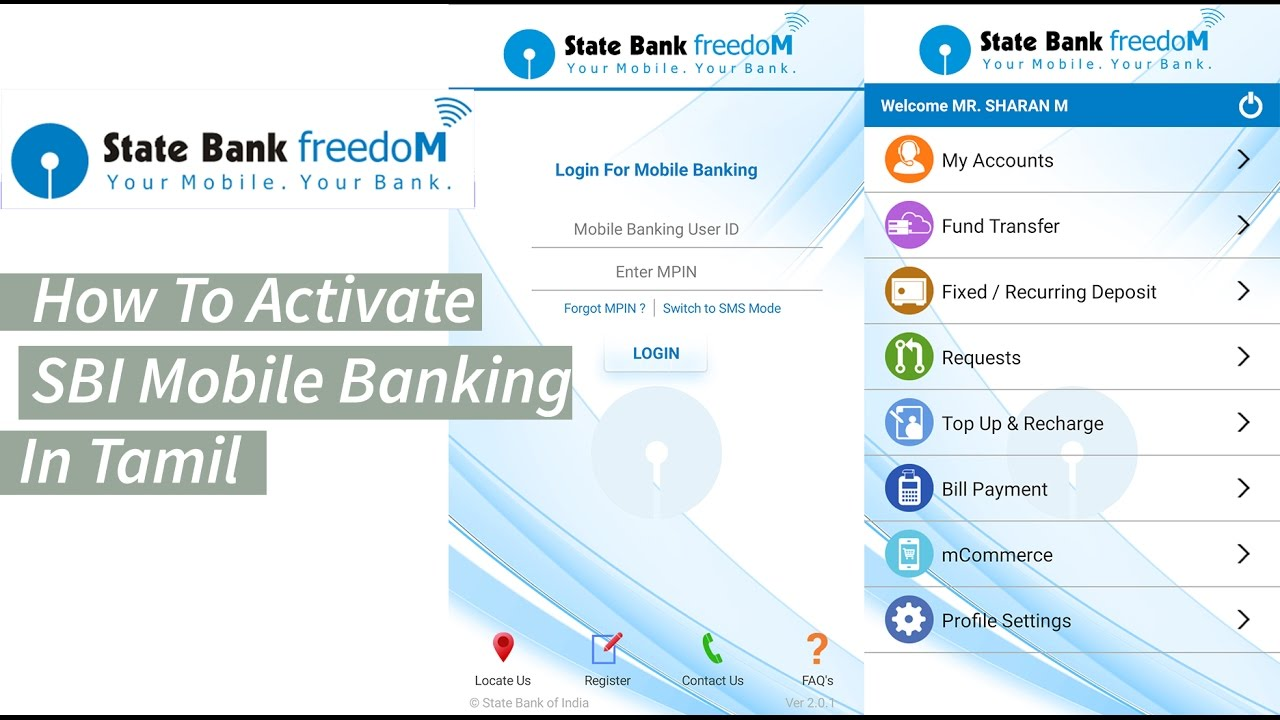 how to register sbi mobile banking state bank freedom app