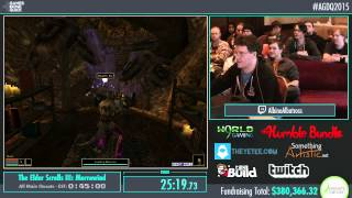 Awesome Games Done Quick 2015 - Part 82 - The Elder Scrolls III: Morrowind by AlbinoAlbatross