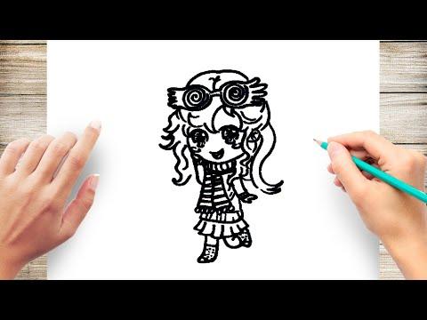 How To Draw Chibi Luna Lovegood Youtube
