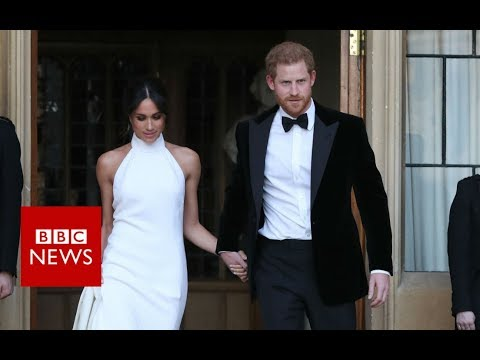 Royal wedding: Harry and Meghan head to private party - BBC News