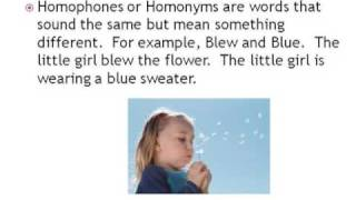 Synonyms, Antonyms, Homophones Video PhotoStory2