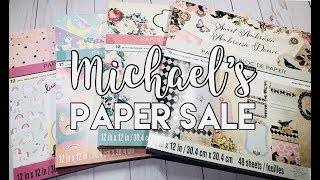 Michael's Paper Pad Sale!! Haul Video