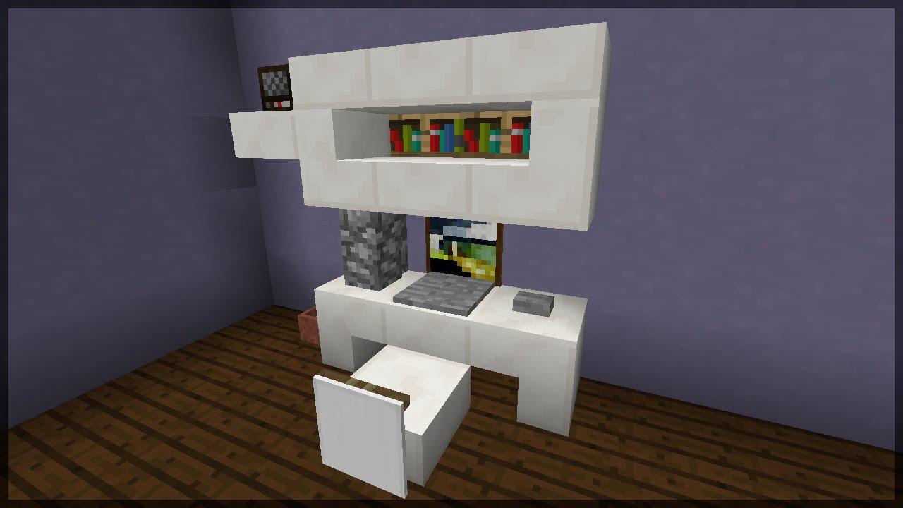 Minecraft Como fazer um PC SetupOffice  YouTube -> Como Fazer Banheiro Moderno No Minecraft