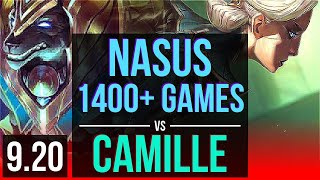 NASUS vs CAMILLE (TOP) | 2.2M mastery points, 1400+ games, Rank 13 Nasus | NA Grandmaster | v9.20
