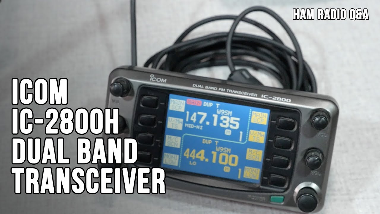 Icom IC-2800H Retro Radio Review - Ham Radio Q&A