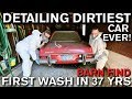 Detailing Dirtiest Car Ever! First Wash in 37 Years Mercedes 280 SL