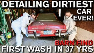 Detailing Dirtiest Car Ever First Wash In 37 Years Mercedes 280 SL