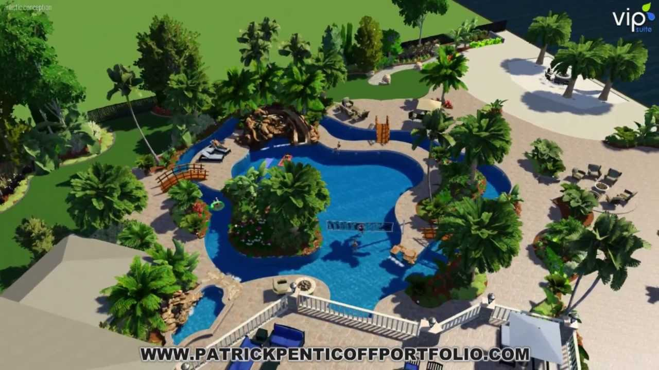 Perfect Patrick Penticoff Portfolio Lazy River Pool + Pool Studios +3D + Lake  Houston   YouTube
