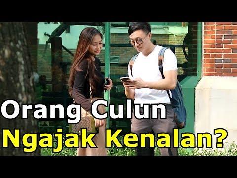 REAKSI CEWEK DIAJAK KENALAN ORANG CULUN - Social Experiment Indonesia