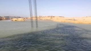 قناة السويس الجديدة : التكريك فى مدخل القناة الجديدة بمنطقة الدفرسوار