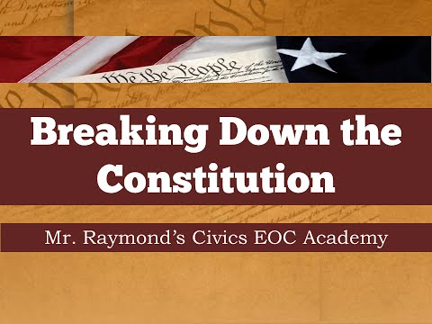 The US Constitution - Breaking Down the Articles - Civics